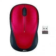 Logitech M235 Kablosuz Nano Unifying Fare Mouse Windows Mac Kırmızı