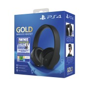 Sony Playstation Gold Wireless Headset (7.1) + Fortnite Neo Versa Bundle PS4