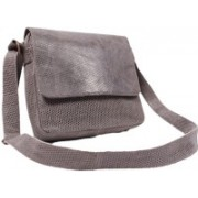 SS Leathers Women Grey Genuine Leather Sling Bag