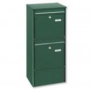 Free-standing double-letter box Jumbo, green