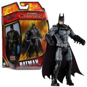 "Mattel Year 2014 DC Comics Multiverse ""Batman Arkham Origins"" Series 4 Inch Tall Action Figure - BATMAN (CDW40) with Grey Belt"