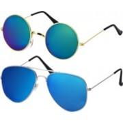 Freny Exim Aviator Sunglasses(Multicolor, Blue)