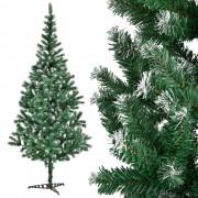 [en.casa]® Изкуствена коледна елха с изкуствен сняг и стойка - 210 см.