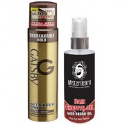 Mister Beard Argan Hair Oil With Gatsby Ultra Hard Spray