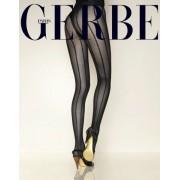 Gerbe Eleganta strumpbyxor med randmönster City noir 3
