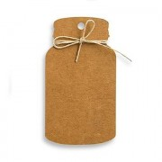 Confetti Kraft Paper Mason Jar Favour Tag with Twine