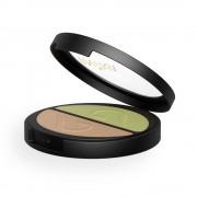 Inika Organic Sombra de ojos dúo mineral en polvo compacto - Khaki Desert