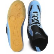 Excido Excido Boxing Shoe, Travelling Shoes , Men Shoes, Gym Shoes, Sports Shoes, Lace-Up Shoes, Rubber Sole Shoes, Synthetic Leather Shoes - Blue Black, Size-Euro43/UK_IN9 Boots For Men(Blue)