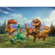Fototapeta detská FTDNXXL 5044 Dobrý dinosaurus, vliesová , 360x270 cm - 4 dielna