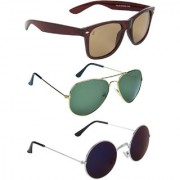 Zyaden Green UV Protection Unisex Aviator Sunglass
