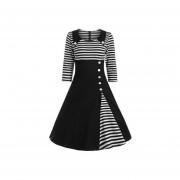 Vestido Casual Fashion-cool Negro Y Blanco