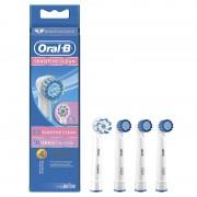 Capete de periaj BRAUN ORAL-B Sensitive Clean (3 Sensitive +1 SENSI UltraThin) pentru gingii sensibile / inflamate