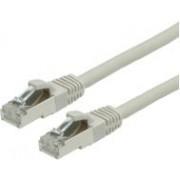 Kabel mrežni Roline VALUE S/FTP (PiMF) oklopljeni Cat 6 (LSOH), 1.0m, sivi
