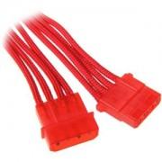 Cablu prelungitor BitFenix Alchemy 4-pini Molex, 45cm, red/red, BFA-MSC-MM45RR-RP