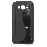 Husa silicon S-line neagra pentru Samsung Galaxy Grand Prime (SM-G530F), Grand Prime Dual Sim (SM-G530H), Grand Prime VE (SM-G531F)