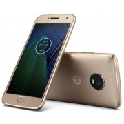 "Telefon Motorola Moto G5 Plus, Procesor Octa-Core 2GHz, IPS LCD Capacitive touchscreen 5.2"", 3GB RAM, 32GB Flash, 12MP, Wi-Fi, 4G, Dual Sim, Android (Auriu) + Cartela SIM Orange PrePay, 6 euro credit, 4 GB internet 4G, 2,000 minute nationale si internatio"