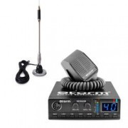 Pachet statie radio CB Storm Defender tehnologie SMD control squelch + antena CB Bytrex MiniPlus
