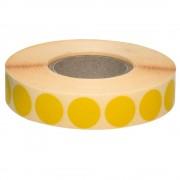 Etichete autoadezive rotunde, 18 mm, 2110 bucati/rola Etichete autoadezive rotunde, 18 mm, galben, 2110 bucati/rola
