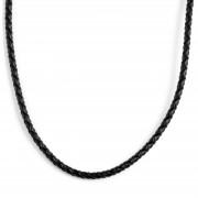 Collin Rowe Collier en cuir noir tressé 3mm