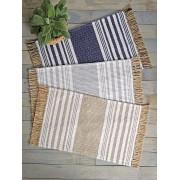 【49%OFF】ストライプ サイドフリンジ ラグ TAN タン インテリア・家具 > 敷物~~ラグ