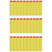 30pcs Yellow Bullet Foam Dart Bullets for Nerf N-Strike Elite Guns