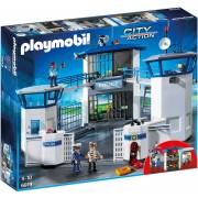 Comisaria Playmobil Con Prision Y Sirena Real - 6919