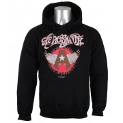 sweat-shirt avec capuche pour hommes Aerosmith - Flying A Logo - HYBRIS - ER-3-AERO008-H73-1-BK