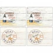 Pimpernel Coastal Signs Bordsunderlägg 4-pack