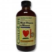 Multi Vitamin Mineral 237 ml (gust de portocale/mango)
