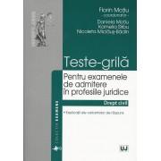 Teste-grila pentru examenele de admitere in profesiile juridice - Drept civil