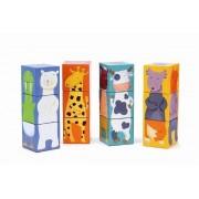 DJECO Klocki dla dzieci układanka - puzzle 3D kolorowe zwierzaki , DJ08208