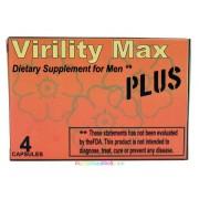 Virility Max Plus 4 db kapszula, potencianövelő, vágyfokozó Férfiaknak