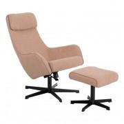 Кресло с табуретка, ERICA, златно бежов (3550903)