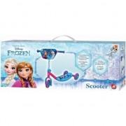 Trotineta copii AS Toys 3 roti placa antiderapanta Frozen Albastra