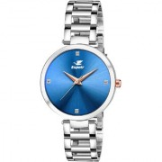 Espoir Analog Stainless Steel Blue Dial Girl's and Women's Watch - ManishaBlue0507