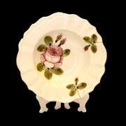 V.K.44-24 Romantik rózsás mélytányér,kerámia,kézzel festett