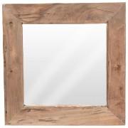 Lustro drewniane w drewnianej starej ramie 50x50 cm