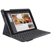 iPad Air 2 Logitech Type+ Bluetooth Toetsenbord Tas - Carbon Zwart - Nordic Layout