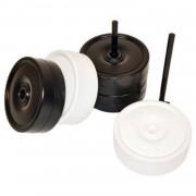 Rolly Toys damstenen klein wit/zwart 11 cm 24-delig