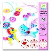 DJECO Zestaw kreatywny Magiczna biżuteria KOTEK i KUCYK dla dzieci, tworzenie własnej biżuterii DJ09495
