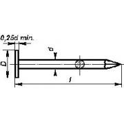 hřebík 32 Al-hliník lepenkový konvexní DIN EN 10230 ČSN 2814.30