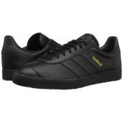 adidas Gazelle Tonal Leather Core BlackCore BlackGold Metallic