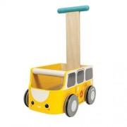 Plan Toys Pchacz Plan Toys Drewniany chodzik van żółty