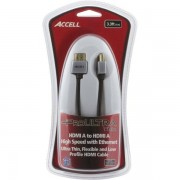 ACCELL ProULTRA Thin, HDMI-kabel, HDMI High Speed with Ethernet, 19-pin ha-ha, 4