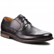 Обувки CLARKS - Becken Plain 261231487 Black Leather