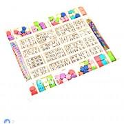 Saiyanshi Wooden Beads Stringing Alphabets and Shapes for Kids