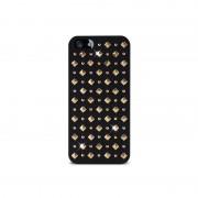 Capa com Tachas Redondas e Quadradas Puro Rock para iPhone 5 / 5S / SE - Preto