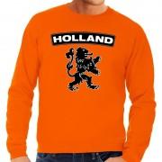 Shoppartners Oranje Holland zwarte leeuw sweater heren