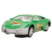 Techege Toys Green Racing Lambo Super Car Self Driving Bumpn Go Race Car Realistic Sounds Flashing Lights