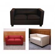2er Sofa Couch Loungesofa Lille, Kunstleder ~ Variantenangebot
